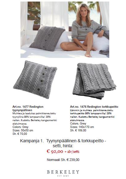 Berkeley tyyny ja peitto tai peitto