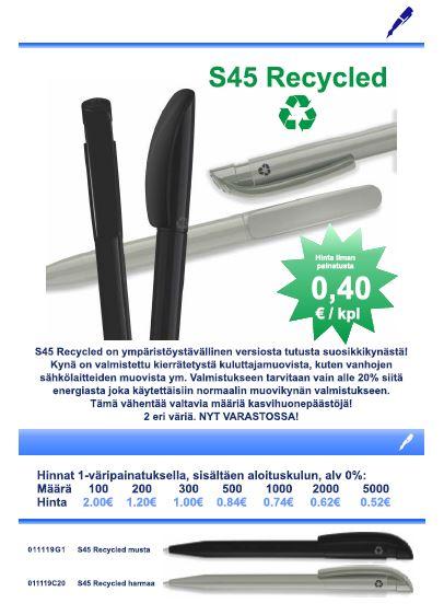 S45 Recycled kynä